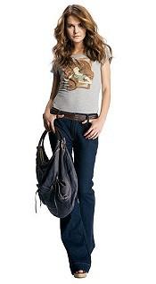 Майка и джинсы